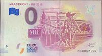 BILLET 0  EURO CMASSTRICHT PAYS BAS  2018  NUMERO 5000 DERNIER BILLET