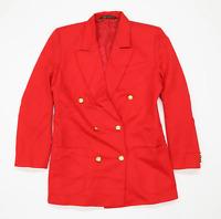 Marks & Spencer Womens Size 10 Red Wool Blend Suit Jacket (Regular)