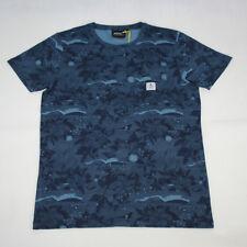 WESC sarek T-Shirt Hawaii Coronet Blu Extra Large Skate Surf Casual