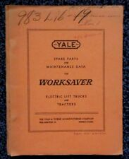 1953 YALE WORKSAVER ELECTRIC LIFT TRUCK MODEL M6P27-48 PARTS LIST & DIAGRAMS