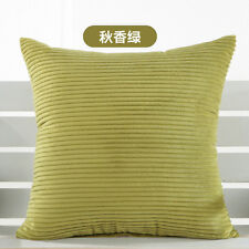 Solid Bright Candy Color Pillow Case High Quality Soft Corduroy Cushion Cover