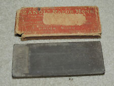 Vintage Zanol Razor Hone Sharpening Stone Oilstone in Box