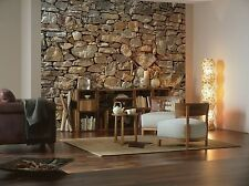 NON-WOVEN Photo Wallpaper Wall Mural STONE WALL - LARGE STONY WALL 368X254cm