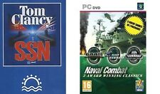 tom clancys ssn & 688i hunter killer & fleet command & sub command    NEW&SEALED