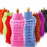 Cute Pet Dog  Sweater Clothes Puppy Cat Knitwear Knitted Coat Winter Warm Jumper