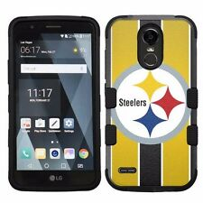 For LG Stylo 3 LS777 Hard Impact Armor Hybrid Case Pittsburgh Steelers #S