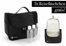 Kulturbeutel zum Aufhängen inkl. Reiseflaschen - 3 x 100 ml wasserabweisen NEU.