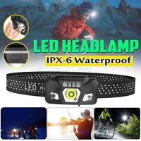 Waterproof Headlight Super Bright Head Torch LED USB Rechargeable Headlamp