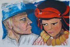 Estampes et gravures du XXe siècle et contemporaines estampes personnage