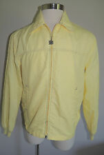 VINTAGE MENS WEST WIND YELLOW NYLON BLEND ZIPPER LIGHT WEIGHT JACKET LGE