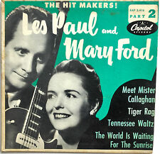 "VINTAGE 1950's LES PAUL & MARY FORD ""HIT MAKERS PART 2"" 4 SONG 45rpm EP RECORD"