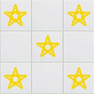 Star Vinyl Tile Stickers Stars Wall Decal Transfers Kitchen Bathroom Home Decor
