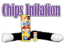 CHIPS INFLATION Cloth Spring Wand Potato Can Magician Magic Trick Clown Comedy
