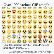 Emoji Emoticon Smiley Face Stickers | Over 1000 Genuine. In GIF Format