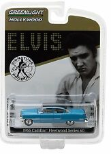 1:64 GreenLight *HOLLYWOOD R16* ELVIS PRESLEY Blue 1955 Cadillac Fleetwood *NIP*