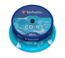 Verbatim 700MB CD-R Blank Discs 52x CD Extra Protection 80 min -50 Pack Spindle