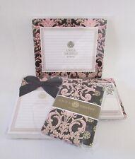 Anna Griffin Pink Damask Foil Desk Set