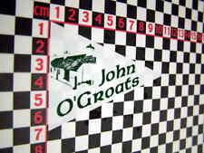 John O'Groats Holiday Sticker- Bedford Camper Dormobile Van Morris 1300 Marina