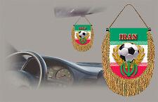 IRAN SOCCER FLAG CAR MINI BANNER, PENNANT