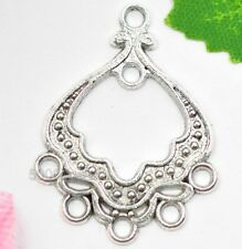 Wholesale 40pcs Tibetan Silver  earring Connectors 30x23mm