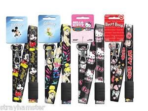 BLACK Breakaway Lanyard key chain ID Hello Kitty Betty Boop Mickey Tinker bell
