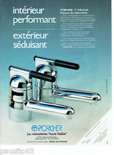 PUBLICITE ADVERTISING 086  1984  Robinettteries Porcher porphyre