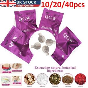10-40 Yoni Detox Pearls Tampons Herbal Natural Womb Vaginal Cleansing Healing UK
