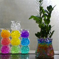 1000 Aqua Water CRYSTAL SOIL BIO GEL Ball Light Beads Wedding Vase Filler DecorB