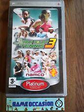 SMASH CORTO TENIS 3 III VERSIÓN PLATINO SONY PLAYSTATION PSP PAL COMPLETO