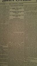 OCT 31, 1890 NEWSPAPER PAGE #5427- SOME STRANGE HALLOWEEN CUSTOMS AND TRADITIONS