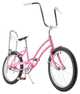 """Girl's Classic Sting-Ray Bicycle w/ 20"""" Wheels Single Speed Bike, Pink, Ages 6+"""