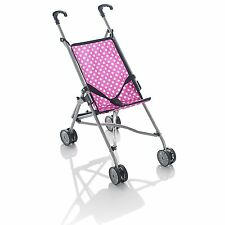 Kids Girls Rosa passeggino carrozzina 4 ruote Passeggino Bambola Passeggino Per Bambini Giocattolo Regalo