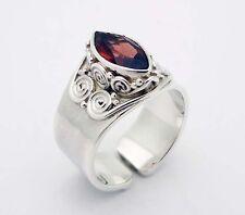 Vintage SAJEN Garnet Ring in Sterling Silver Size 8