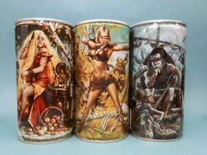Set of 3 Faxe empty beer cans  limited edition 0.9 L from Russia
