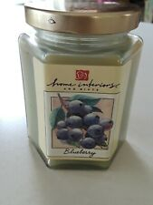 New but Vintage Home Interiors Candle Blueberry 7.5 oz. Jar