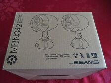 2 Pack Mr Beams MB342 Wireless LED Spotlight with Motion Sensor and Photocell