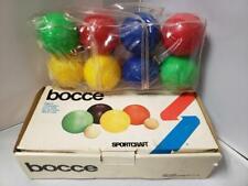 Bocce Sportcraft Vtg 1981 Composition Set 01040 New NIB Lawn Bowling Game