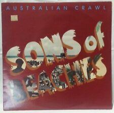 AUSTRALIAN CRAWL - vintage vinyl LP - Sons of Beaches - sleeve w/lyrics