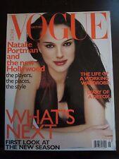 British Vogue Magazine Natalie Portman August 1999 Newsstand No Label (l)