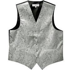 New Men's Formal Tuxedo Vest Waistcoat only paisley Silver wedding