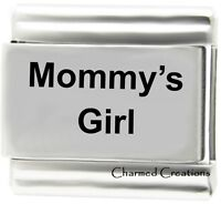 Mommy's Girl 9mm Italian Charm Stainless Steel Modular Link Daughter Kids Family