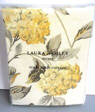 "Laura Ashley Hydrangea Camomile Yellow Curtains 64"" x 72/ 162cm X 183 Floral New"