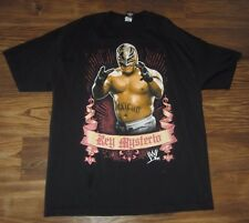 WWE Ray Mysterio Mens T-Shirt, Great Graphics, Black, Cotton, Size XL, EUC