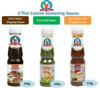 Healthy Boy 3 Thai Cuisine Dipping Sauce Jeaw Spicy, Seafood & Soy Bean Paste