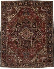 Semi Antique Geometric 10X13 Vintage Heriz Oriental Area Rug Home Decor Carpet