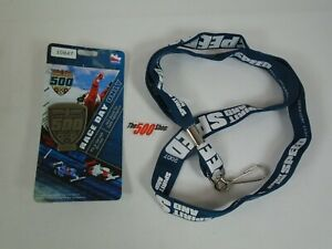 2007 Indianapolis 500 Silver Pit Badge 1092 Lanyard Race Day Hard Card Credentia