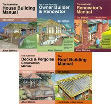5 Books Allan Staines- House Building Owner Builder Renovator Decks Roof