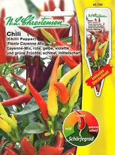 Peperoni Chili Fiesta Cayenne Mix scharf Paprika Samen Saatgut Sämereien Saat