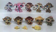 LPS Littlest Pet Shop Monkey Lot Of 10 AUTHENTIC Monkeys Hasbro