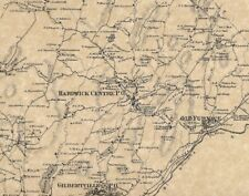 Hardwick Gilbertville Wheelwright MA 1870 Maps with Homeowners Names Shown